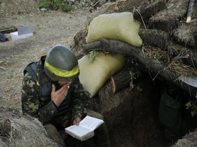 Người lính Ukraine trên mặt trận miền Đông
