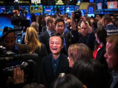 Cổ phiếu của Alibaba tăng 38% ngay sau khi lên sàn New York