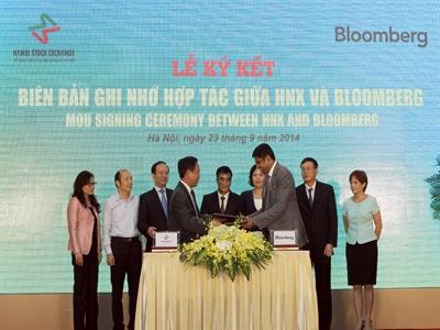 HNX kết nối với hệ thống thông tin quốc tế Bloomberg