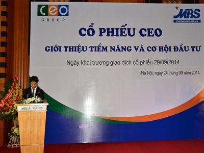 CEO dự kiến tăng vốn lên gấp đôi, mở bán 3 dự án trong quý IV/2014