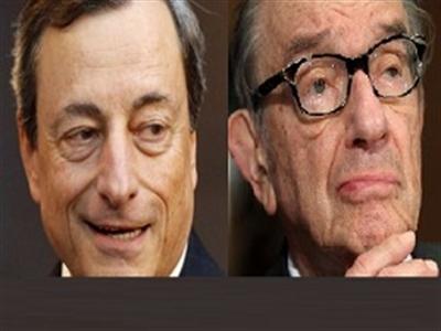 Mario Draghi nối bước Alan Greenspan