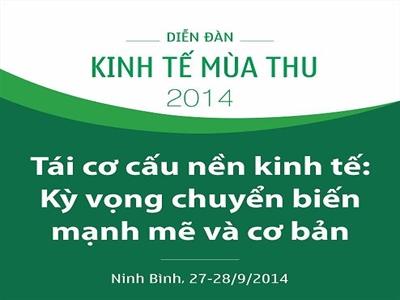 Ngày mai, khai mạc diễn đàn kinh tế mùa thu tại Ninh Bình