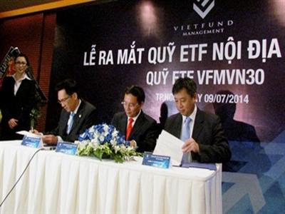 NAV chứng chỉ quỹ E1VFVN30 tăng 0,21% so với ngày 30/9/2014