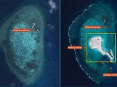 Trung Quốc bồi đắp đảo mới ở Trường Sa