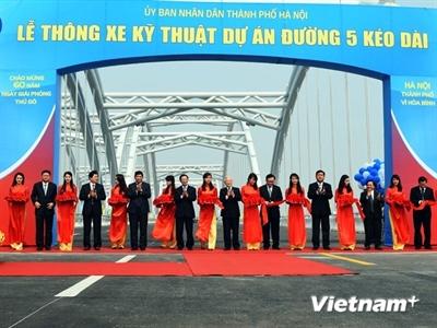 Hà Nội thông xe đường 5 kéo dài và cầu Đông Trù