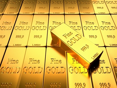 Giá vàng lên cao nhất 4 tuần khi USD tuột dốc