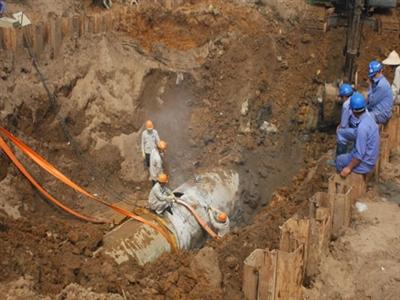 Tháng 12 khởi công tuyến ống nước sông Đà số 2