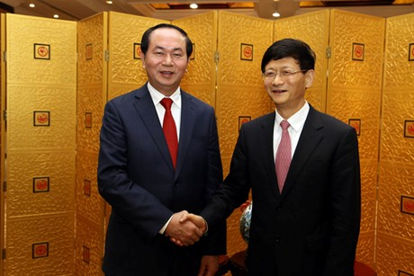 Bộ trưởng Trần Đại Quang hội kiến Bí thư Ủy ban chính pháp Đảng Cộng sản Trung Quốc