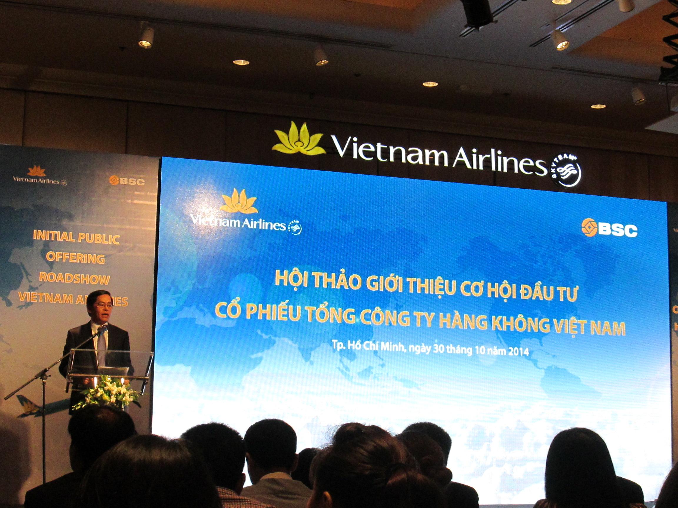 Đại hội cổ đông đầu tiên của Vietnam Airlines dự kiến vào ngày 12/3/2015
