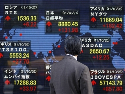 Chứng khoán châu Á giảm sau số liệu của Trung Quốc
