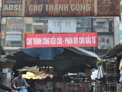 Hà Nội tạm dừng xây chợ - trung tâm thương mại Thành Công