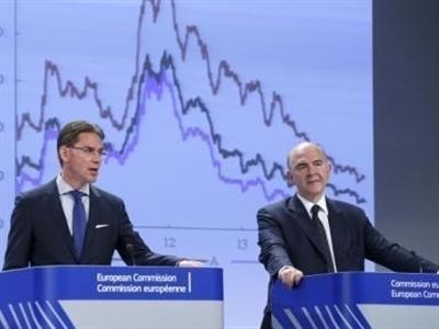 EC hạ triển vọng tăng trưởng Eurozone