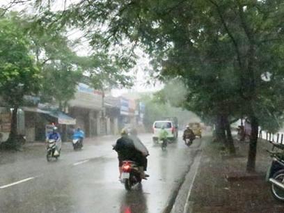 Mưa xuất hiện ở khắp các vùng trên cả nước