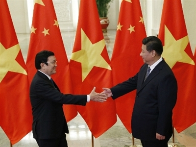Chủ tịch nước Trương Tấn Sang gặp Chủ tịch Trung Quốc