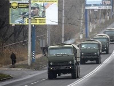 Đoàn xe quân sự bí ẩn xuất hiện ở miền Đông Ukraine