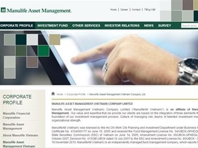 10 nhà đầu tư nắm 99,5% quỹ mở của ManulifeAM Việt Nam