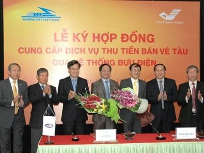 Bưu điện Việt Nam thu hộ tiền vé tàu từ 21/11/2014