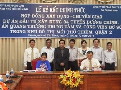 Đại Quang Minh đầu tư gần 8.300 tỷ đồng xây 4 tuyến đường chính khu Thủ Thiêm