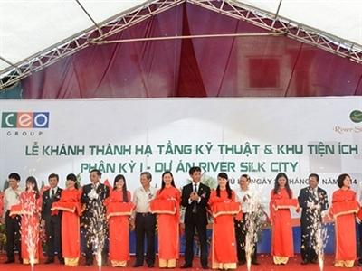 Hà Nam khánh thành hạ tầng và khu tiện ích dự án River Silk City