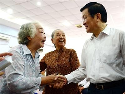 Chủ tịch nước Trương Tấn Sang: Ủng hộ công khai tài sản của cán bộ