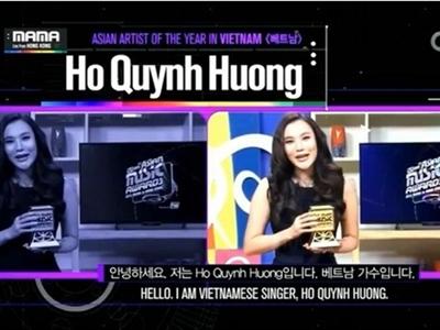 Hồ Quỳnh Hương nhận giải thưởng xuất sắc tại MAMA 2014