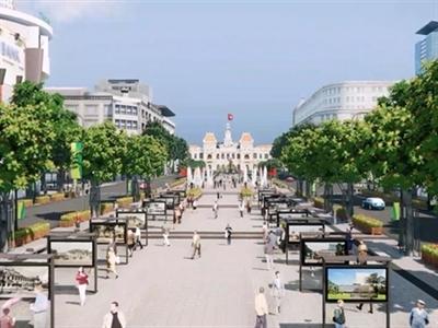Hoàn thành toàn bộ công trình nâng cấp, cải tạo đường Nguyễn Huệ trước 20/4/2015