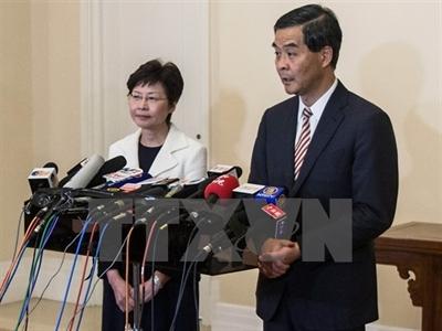 Lãnh đạo Hong Kong tuyên bố sẵn sàng đối thoại về cải cách bầu cử