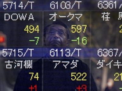 Chứng khoán châu Á xuống thấp nhất 6 tuần