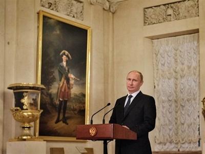 Kinh tế lao đao, người Nga vẫn coi Tổng thống Putin là Nhân vật của năm