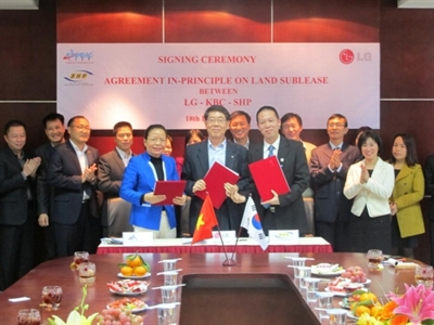 KBC: LG ký hợp đồng thuê thêm 40 ha tại KCN Tràng Duệ