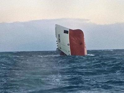 Đắm tàu chở xi măng ở Scotland, 8 người mất tích