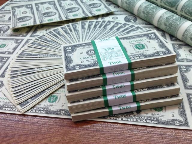 USD đồng loạt giảm so với yên, euro