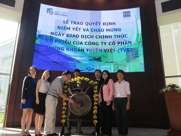 Chứng khoán Thiên Việt chính thức niêm yết 43 triệu cổ phiếu trên HSX