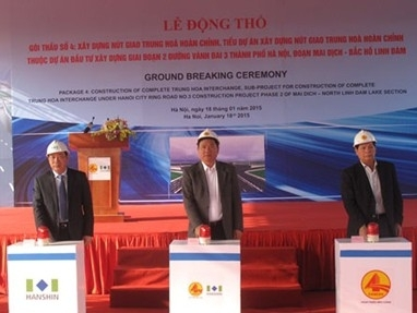 Động thổ nút giao Trung Hòa - Đại lộ Thăng Long