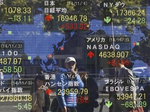 Chứng khoán châu Á tăng bất chấp cổ phiếu Trung Quốc giảm mạnh