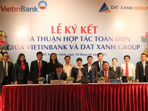 Đất Xanh và VietinBank ký hợp tác 20.000 tỷ đồng