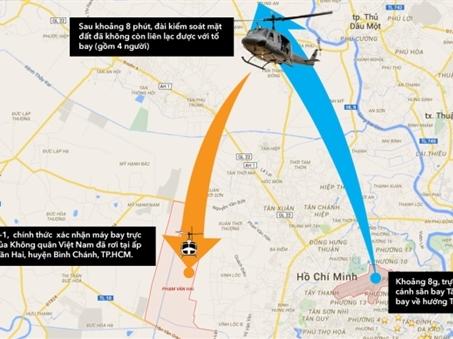 Trực thăng quân sự rơi tại TP.HCM, 4 chiến sĩ hy sinh