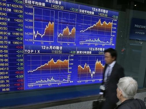 Chứng khoán châu Á giảm mạnh nhất 3 tuần