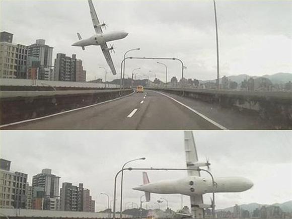 Video cận cảnh máy bay TransAsia Airways lao xuống sông