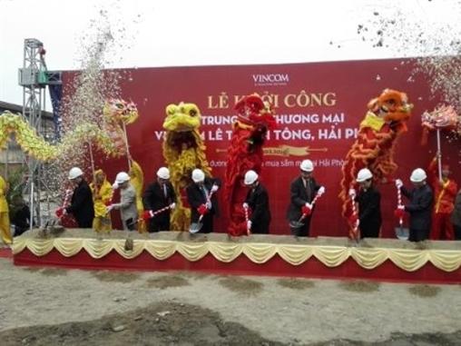 Khởi công TTTM Vincom 600 tỷ đồng tại Hải Phòng