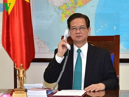 Thủ tướng Nguyễn Tấn Dũng điện đàm Thủ tướng Nhật Bản