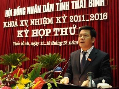 Thái Bình có Chủ tịch tỉnh mới