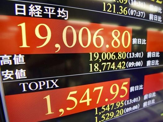 Nikkei 225 vượt 19.000 điểm lần đầu tiên kể từ năm 2000