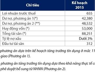 VIB đặt kế hoạch lợi nhuận trước thuế 2015 đạt 655 tỷ đồng, tăng 1%