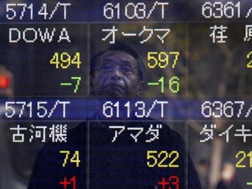 Chứng khoán châu Á lên cao nhất 2 tuần