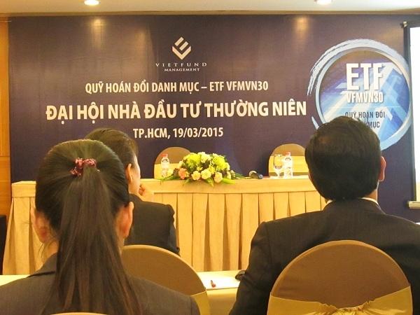 Quỹ ETF VFMVN30 đề xuất không chia lợi nhuận năm 2014