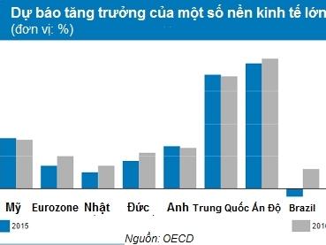 OECD: Kinh tế toàn cầu hồi phục nhờ giá dầu rẻ và nới lỏng tiền tệ