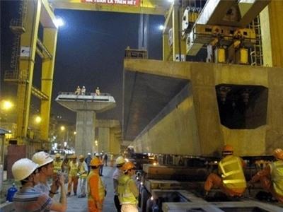 Năm 2016 sẽ chạy thử tuyến đường sắt trên cao Hà Nội
