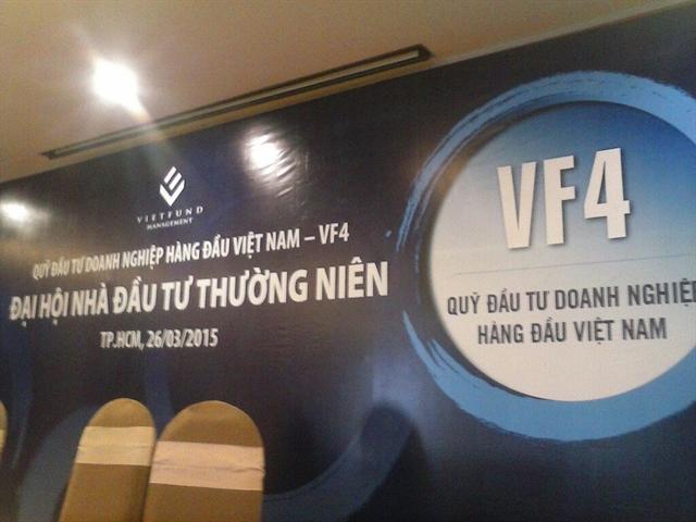 Quỹ VF4 sẽ không chia lợi nhuận năm 2014