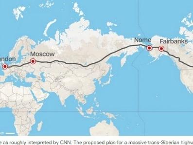 Nga tham vọng làm đường cao tốc xuyên 3 châu lục